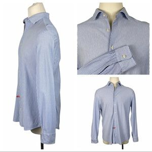 Charles Tyrwhitt Blue Striped Dress Shirt Slim Fit